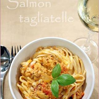 Salmon tagliatelle and a Cirio product review