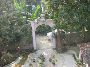 Photo: A psectacular view of the entrance gate newly built in 2008  of the ashram
