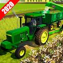 Village Tractor Drive 2020-Farm Offroad Sim Games icon