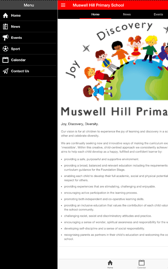 Muswell Hill Primary School- screenshot