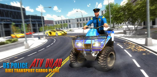 US Police ATV Quad Bike Plane Transport Game for PC