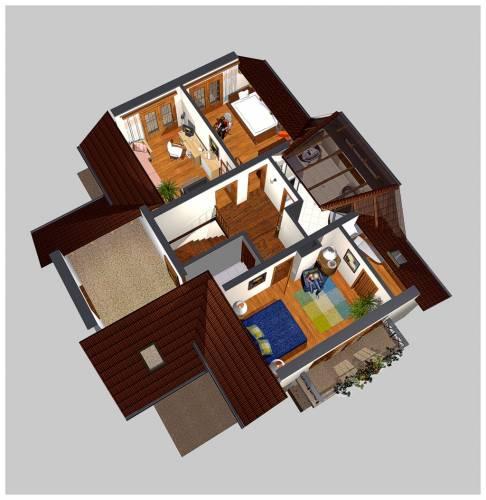 APS 131 - Rzut piętra 3D