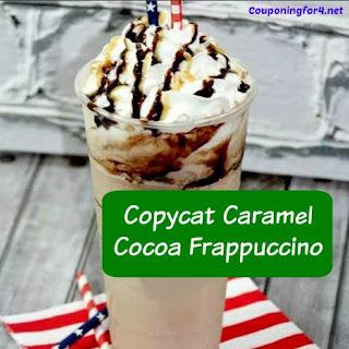 Copycat Starbucks Caramel Cocoa Frappuccino