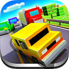 Blocky Highway: Traffic Racing icon