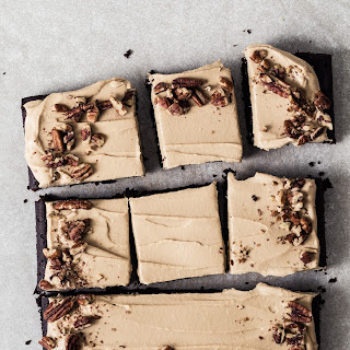 Black Bean Cake With Coffee Frosting.