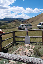 Photo: Just before dropping down to cross Saguache Creek, we stop at grave.  Pvt Jacob Sadler, US Army, 1881.  There must be a story here.