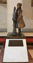 Photo: Helen Keller, 1880-1968. Donated to the National Statuary Hall Collection by Alabama in 2009 - http://www.aoc.gov/capitol-hill/national-statuary-hall-collection/helen-keller