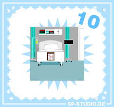 Photo: Today I included a new background for the sp-studio.de Christmas Special: a hospital room.