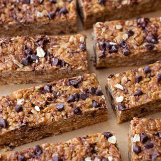 Healthy No-Bake Peanut Butter Chocolate Chip Granola Bars.