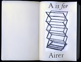 Photo: Philippa Robbins - folding book primer - A is for Airer