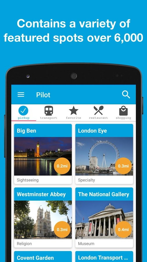 Pilot for London, UK guide- screenshot
