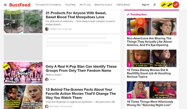 buzzfeed medien nachrichten veröffentlichungsplattform
