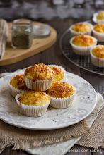 Photo: Muffins de queso parmesano - http://historiasdesabor.blogspot.com.es/2014/08/muffins-de-queso-parmesano.html - Elena