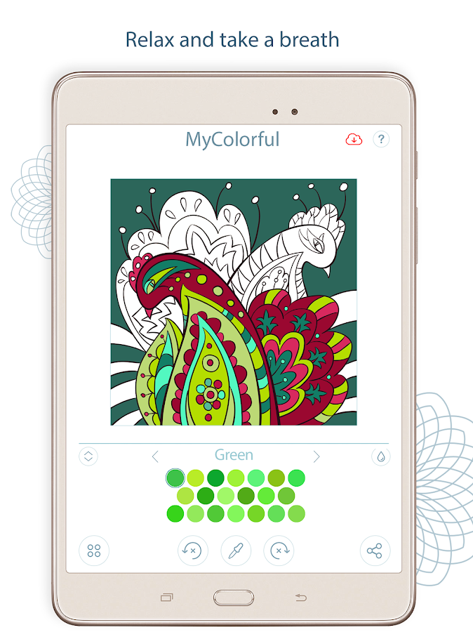 Coloring book app - MyColorful – Android Apps on Google Play Easy Arabesque Art