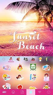 Sunset Beach Kika Keyboard 5