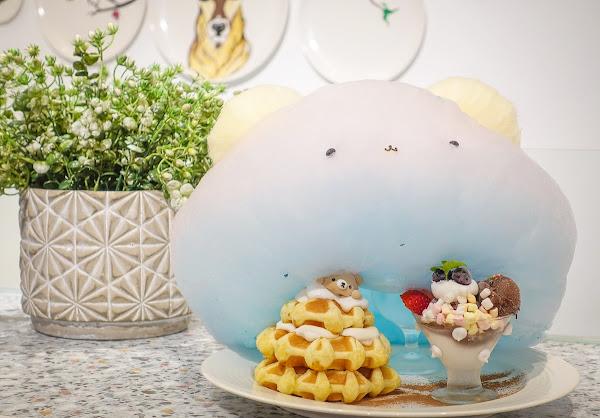夢幻熊熊棉花糖比利時鬆餅!閨密約會聚餐美店-[高雄下午茶推薦]雛菊鬆餅