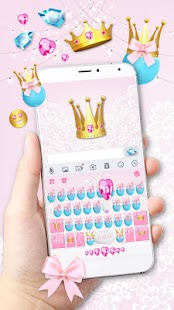 Pink Cute Princess Keyboard Theme - náhled