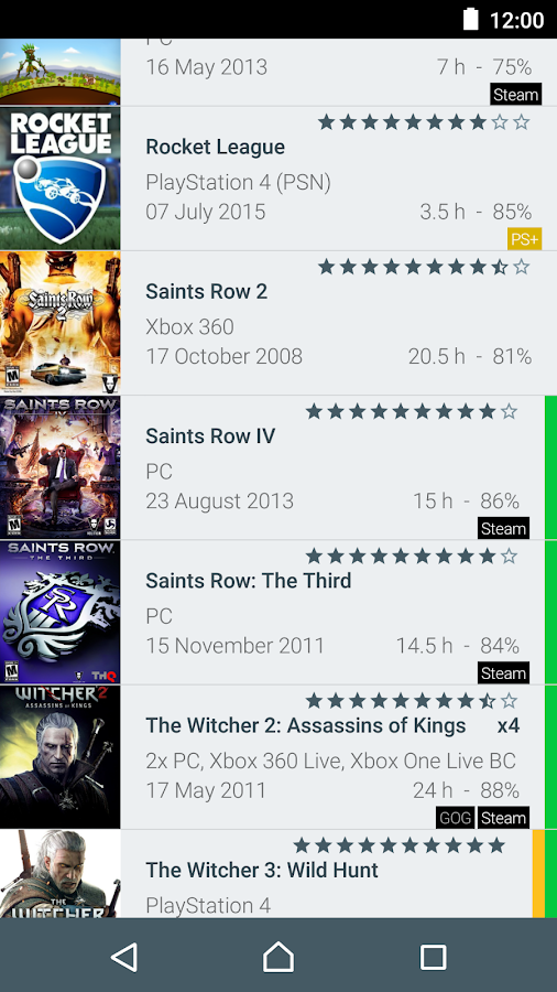 My Game Collection (Tracker)- screenshot