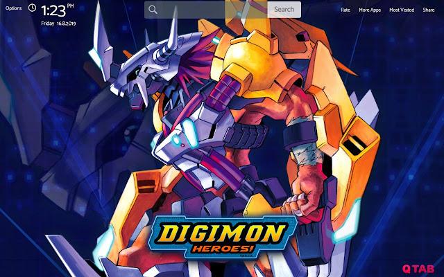 Digimon Wallpapers New Tab Theme