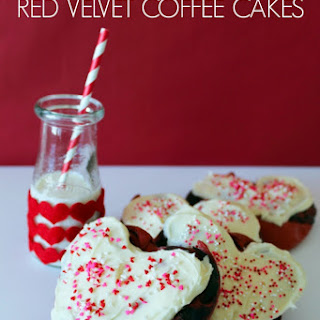 Chocolate Filled Red Velvet Coffee Cakes