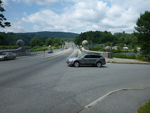 Photo: Bridge across the Connecticut River Leaving N.H. entering Vermont (Aug. 5th)