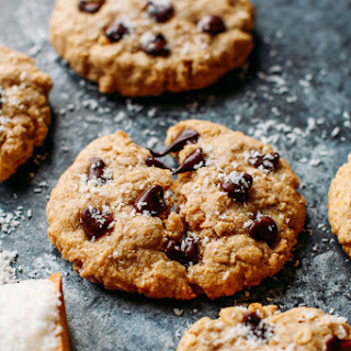 Healthy Oat & Coconut Chocolate Chip Cookies Recipe