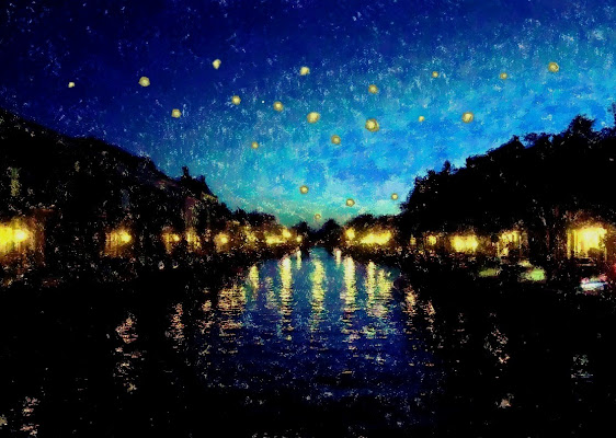 Notte stellata ad Haarlem di d