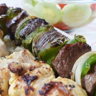 Easy Grilled Steak and Chicken Kabobs Recipe