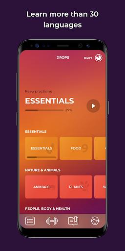 Drops: Learn 33 new languages 31.59 screenshots 1