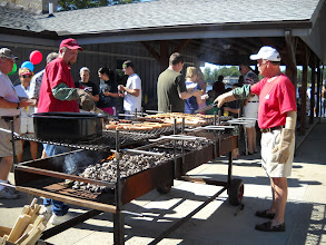 Photo: Richard Rumbaugh and Gary Stamm cooked up the dogs!
