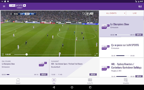 Télécharger beIN SPORTS CONNECT sur Android, APK, iPhone et iPad