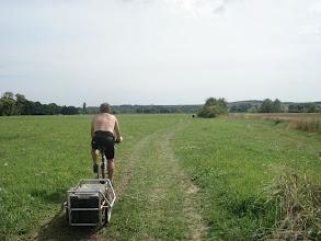 Photo: mon fidèle compagnon de route sur une belle voie verte sans aucune difficulté... du moins cette portion