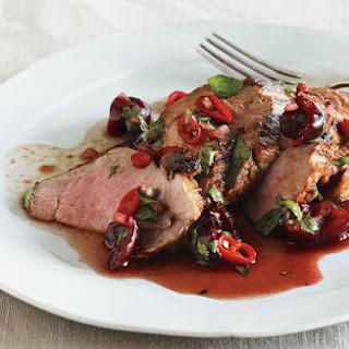 Grilled Pork Tenderloin with Cherry Salsa