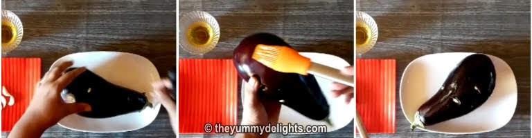 apply oil over brinjal
