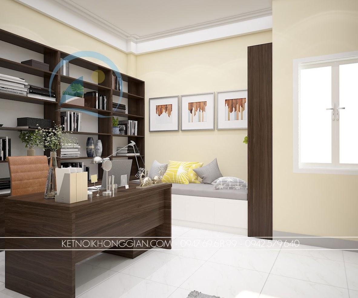 thiết kế phòng làm việc kết hợp phòng đọc sách và thiền 8