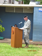 Photo: Brigadier General Pete Johnson represented the 25th ID and shared his thoughts about the project and what it means to our military families.  BG Johnson has three children - 1 at Hale Kula, 1 at Wheeler Middle, and 1 at Leilehua High School.  We appreciate he and his wife's support for the Hawaii public schools!
