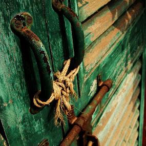 Lock the door by Sayan Basu - Digital Art Things ( lock, .rope )
