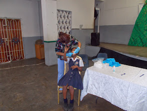 Photo: quick check of children at the school