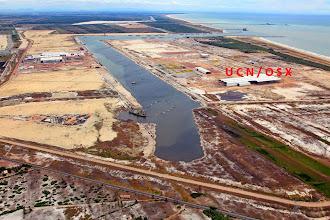 Photo: Canal do Terminal do do Porto do Açu em fase construção janeiro 2014