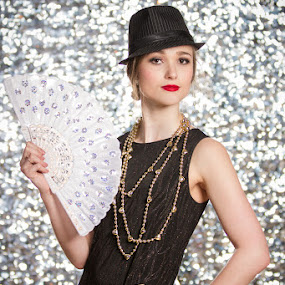 Glam by Eric Bureau - People Fashion ( glamour, model, photoshoot, women, bokeh, 1920's )