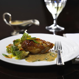 Chicken with Tarragon Mustard Sauce and Romanesco