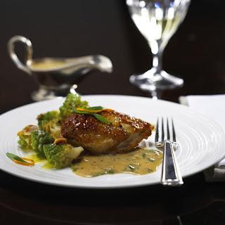 Chicken with Tarragon Mustard Sauce and Romanesco.