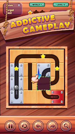 unroll ball - slide puzzle game screenshot 3