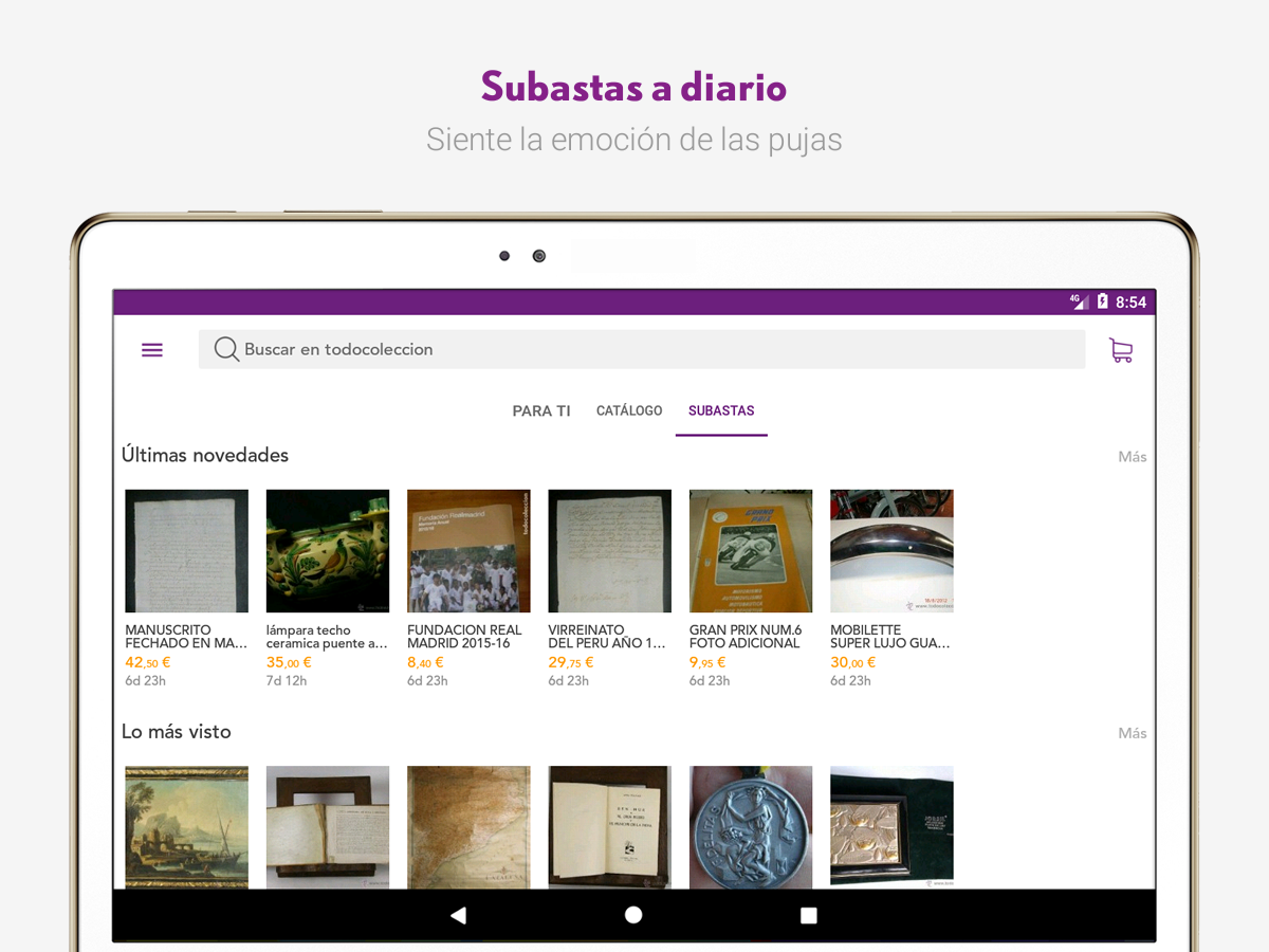 todocoleccion auctions & sales- screenshot