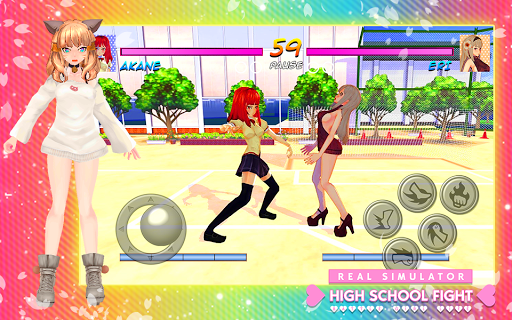 High School Girl Real Battle Simulator Fight Life painmod.com screenshots 4