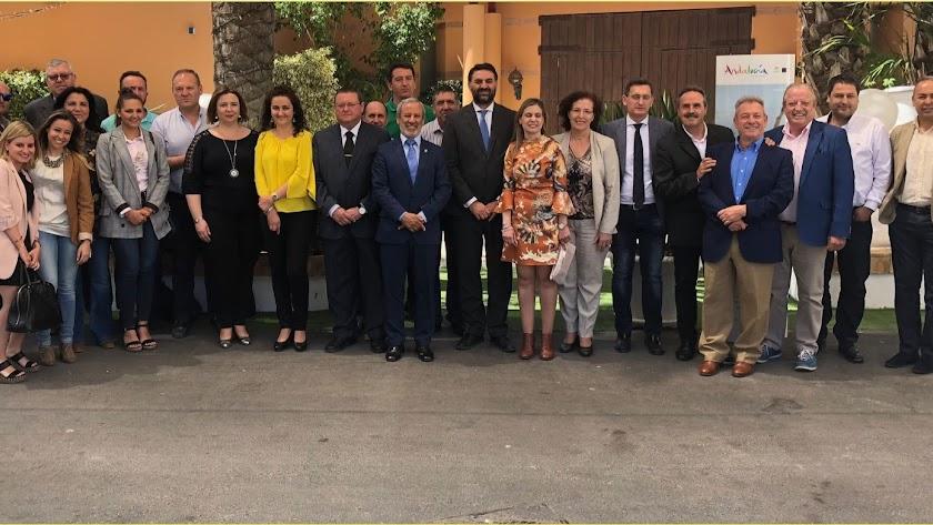Acto  en Vera del Plan de Promoción con el consejero Francisco Francisco J. Fernández.