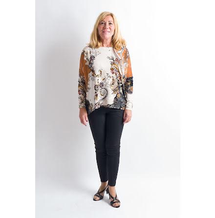 Ilse Jacobsen blouse brown black SOUL49AG-001
