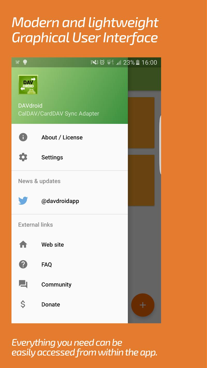 DAVdroid – CalDAV/CardDAV Synchronization Screenshot 6