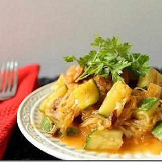 Chicken Sausage Enchilada Spaghetti Squash.