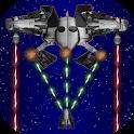 Space wars - retro game icon